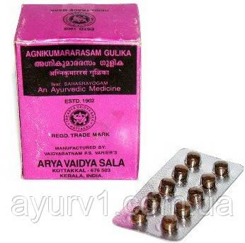 Агникумарасрасам гулика - при и хронических лихорадках / Agnicumararasam Gulica, Arya Vaidya Sala / 100 таб