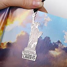 Закладка книжная металлическая Статуя Свободы