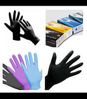 """Перчатки рабочие нитриловые черные размер """" M """""""