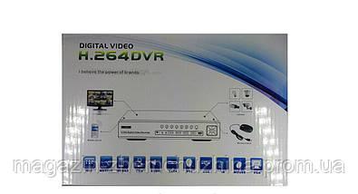 Регистратор DVR 6104V, видеорегистратор 4-х канальный hd dvr, видеорегистратор на 4 камеры, фото 3