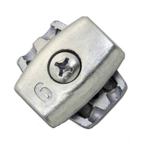 Зажим для троса 6 мм обжимной (бочка) , фото 2