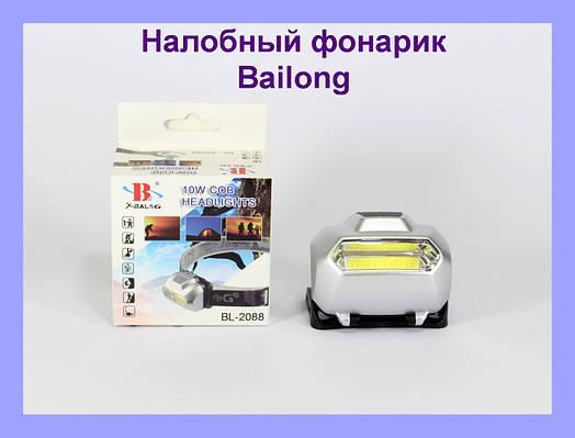 Налобный фонарик Bailong BL 2088 COB!Опт