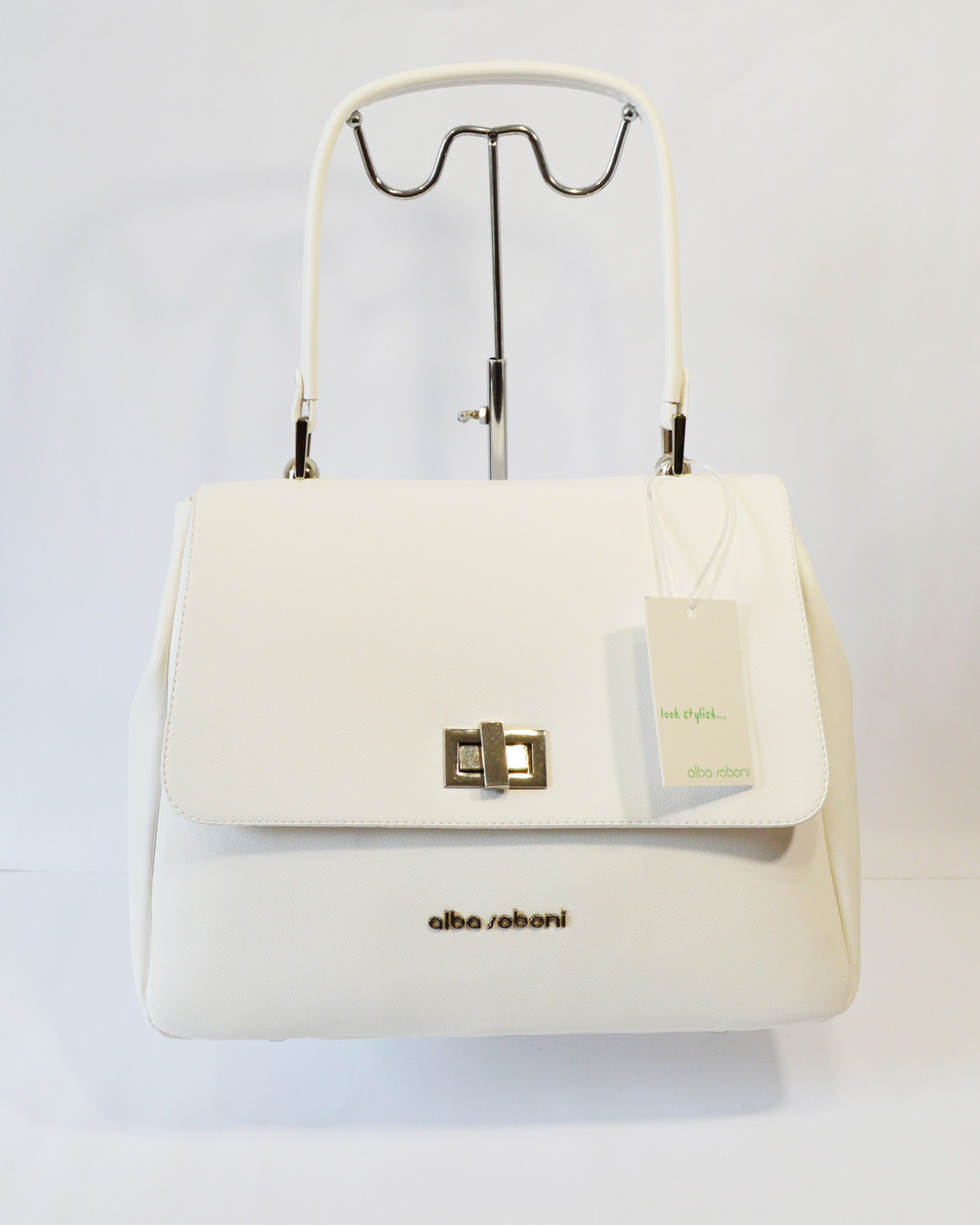 Женская белая сумка Alba Soboni
