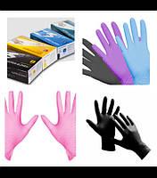 """Перчатки нитриловые розовые размер """" L """""""