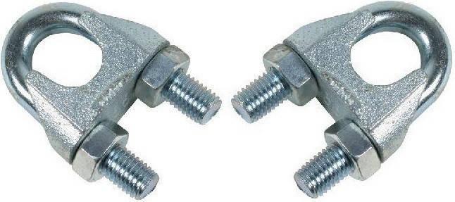 Зажим для троса DIN 741 (диаметр троса) 24/26мм, фото 2