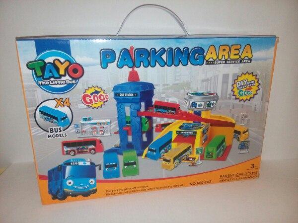 Игровой набор Паркинг для автобусов Тайо Parking