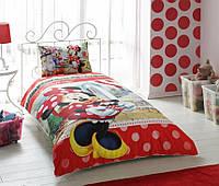 Детское подростковое постельное белье TAC Disney Minnie Mouse Tea Time Ранфорс