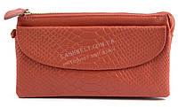 Женская удобная сумочка-барсетка с плечевым ремешком из натуральной кожи Б/Н art. 202 розовая