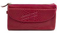 Женская удобная сумочка-барсетка с плечевым ремешком из натуральной кожи Б/Н art. 202 красный