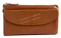 Женская удобная сумочка-барсетка с плечевым ремешком из натуральной кожи Б/Н art. 202 светло коричневый