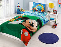Детское подростковое постельное белье TAC Disney Mickey Mouse Club Ранфорс