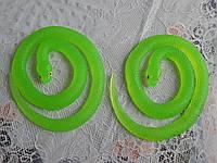 Змея силиконовая длинная фосфорная светящая