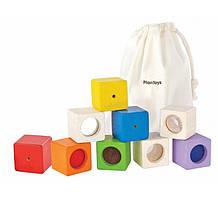 Plan Toys - Деревянная игрушка Обучающие кубики