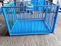 Весы для взвешивания животных VTP-G-1020-1500  1000х2000мм с оградкой 1200 мм на 1500 кг.