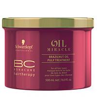 Маска с маслом бразильского ореха Schwarzkopf Professional ВC Oil Miracle Brazilnut Oil Pulp Treatment 500 ml