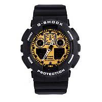 Мужские часы Casio G-Shock GA 100 Black Gold