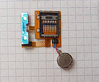 Разъем / Коннектор карты памяти для телефона Samsung S8530 / Wave II с кнопками и шлейфом