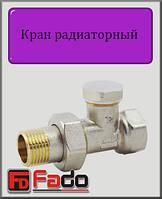 """Кран радиаторный нижний Fado Classic 1/2"""" прямой"""