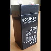 Bossman 2fm4.5 , 4v, 4.5ah/20hr, свинцово-кислотний (2fМ4.5)