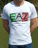 Мужская футболка ARMANI EA7 белая
