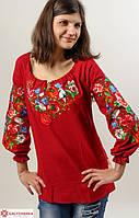 Очень красивая вышитая блуза из домотканого полотна расшита машинной вышивкой