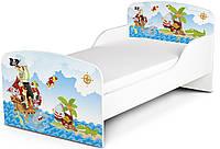 Кроватка «Пираты» с матрасом 140*70
