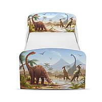 Кроватка «Динозавры» с матрасом 140*70