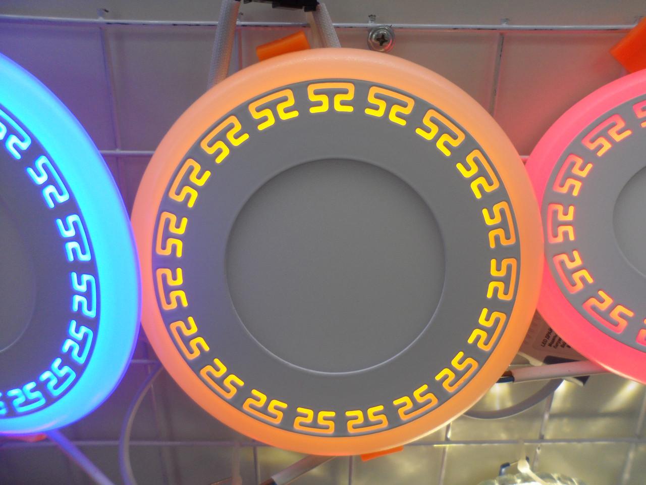 LED панель Lemanso LM548 Грек круг 18+6W желтая подсветка 1440Lm 4500K