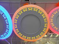 LED панель Lemanso LM548 Грек круг 18+6W желтая подсветка 1440Lm 4500K, фото 1