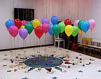 Гелиевые шарики с грузиками для фотозоны и оформления