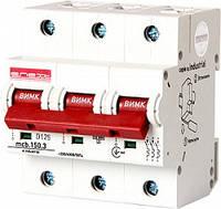 Модульный автоматический выключатель e.industrial.mcb.150.3.D125, 3р, 125А, D, 15кА