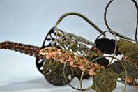 Бутыльник плетеный, ротанг, металл, Плетеные декоры, Днепропетровск, фото 1