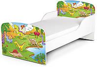 Кроватка «Dino» с матрасом 140*70