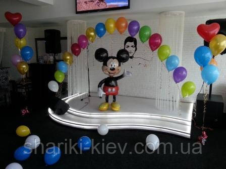 Оформление Арка из 17-ти шаров металик  и Ходячка Микки Маус, фото 2