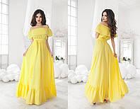 Женское шикарное летнее платье в пол 1056 / в расцветках