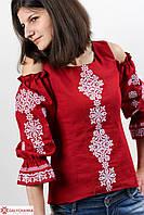 Очень красивая женская вышиванка из льна с орнаментом