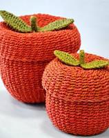 Плетеные шкатулки, набор 2 шт, фото 1
