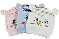 Детская шапочка весна-осень для новорожденных