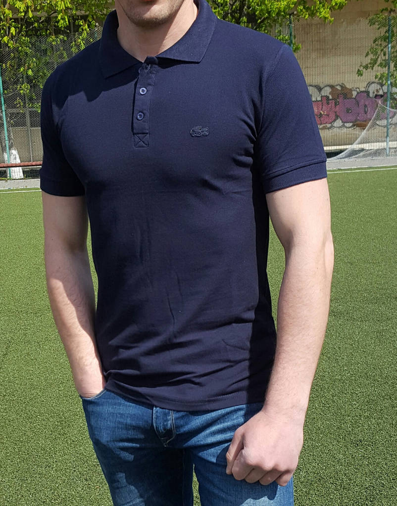 Мужское поло Lacostе синее