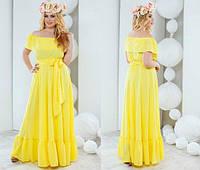 Женское шикарное летнее платье в пол 1056 / батал / в расцветках
