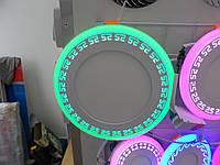LED панель Lemanso LM548 Грек круг 18+6W зеленая подсветка 1440Lm 4500K, фото 1