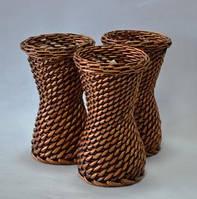 Ваза, плетеная, лоза, Н 20 см, Декор для дома, Днепропетровск, фото 1