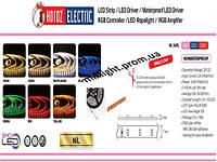 Светодиодная лента smd 3528 IP20 Horoz Electric красный, зеленый, синий, желтый цвет свечения