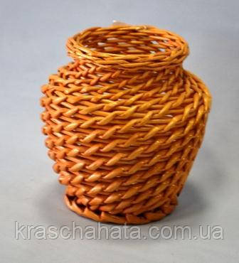 Ваза, плетеная, лоза, Н 18 см, Декор для дома, Днепропетровск