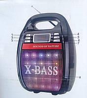 Колонка-комбик GOLON RX-810 BT Bluetooth + MP3, радиомикрофон, пульт, цветомузыка, 30W