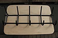 Вешалка настенная железная на 5 крючков