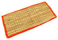 "Циновка для медитации из травы Куша ""Kusha Asan"" с красным кантом (63х38х1 см)"
