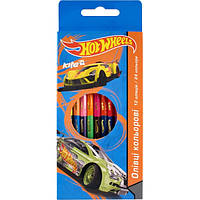 "Карандаши цветные двухсторонние Kite ""Hot wheels"" 24 цвета"