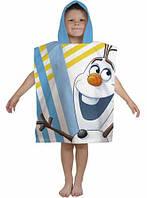 Пляжное полотенце-пончо Фрозен Снеговик Олаф для мальчика 2-6 лет