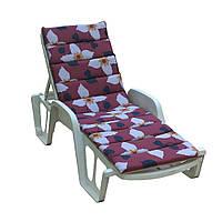 Матрас для лежака Onda 188x57x5 хлопок коричневый с серыми цветами